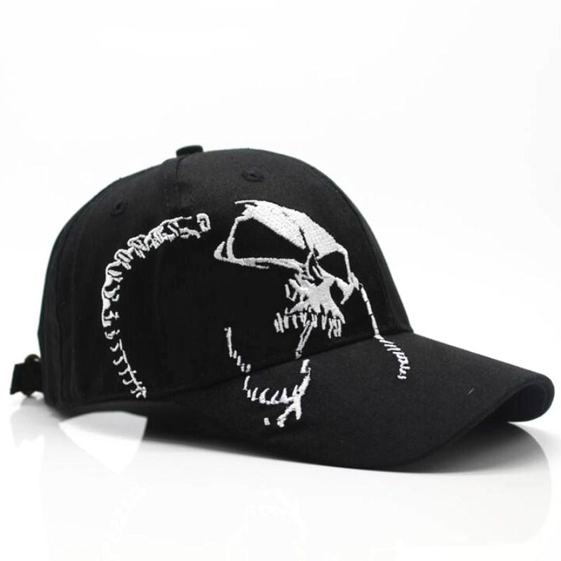 Baseball Cap Skull Embroidery
