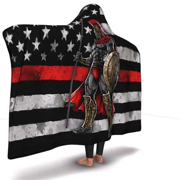 Red Warrior Hoodie Blanket