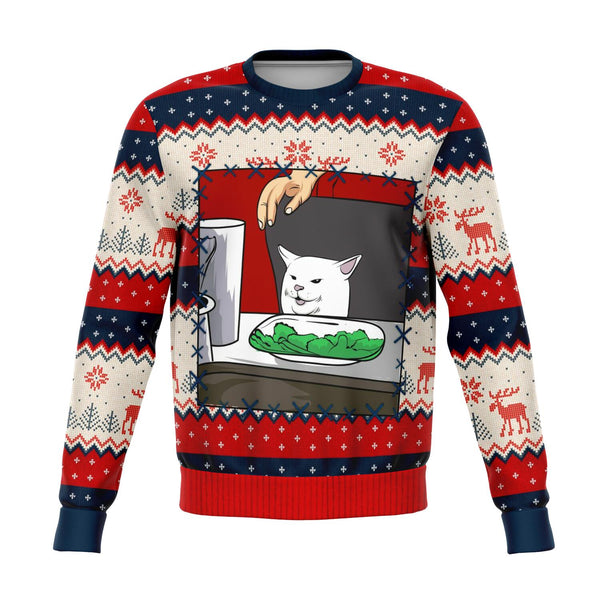 Meme Cat Ugly Christmas  Sweatshirt