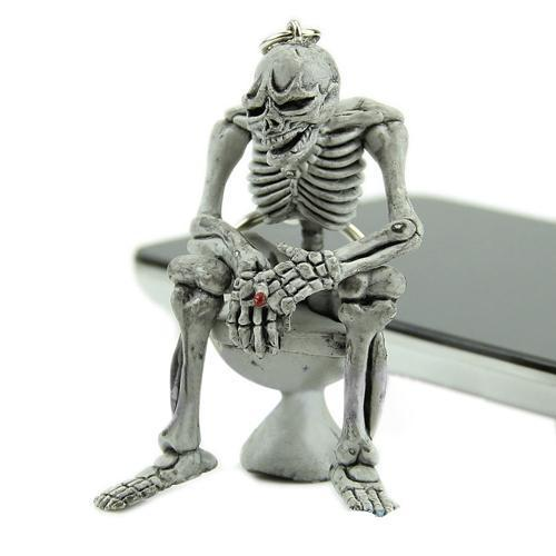 Toilet Chilling Skeleton Key Chain