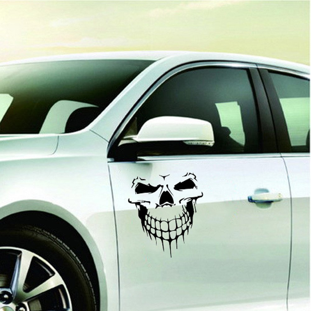Car Stickers Skull Head Reflective Vinyl Car Exterior Accessories
