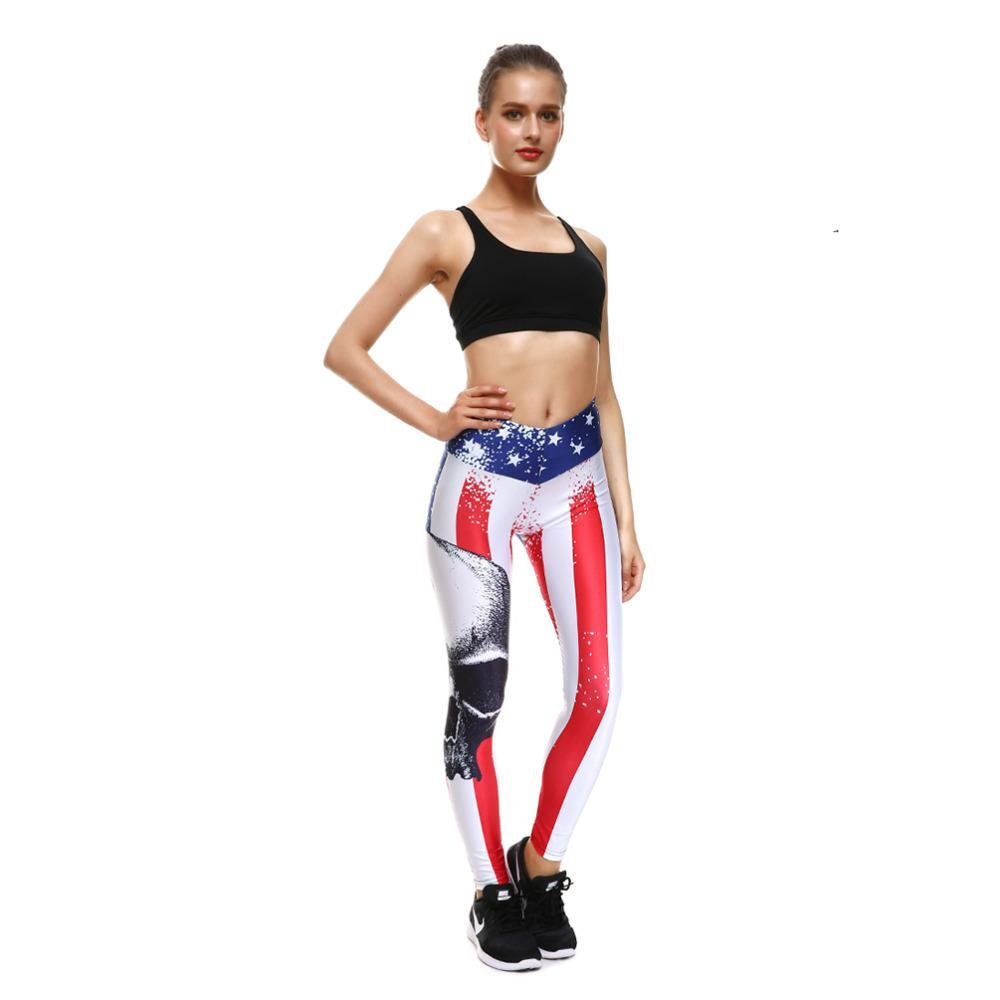 American Flag Skull Leggings