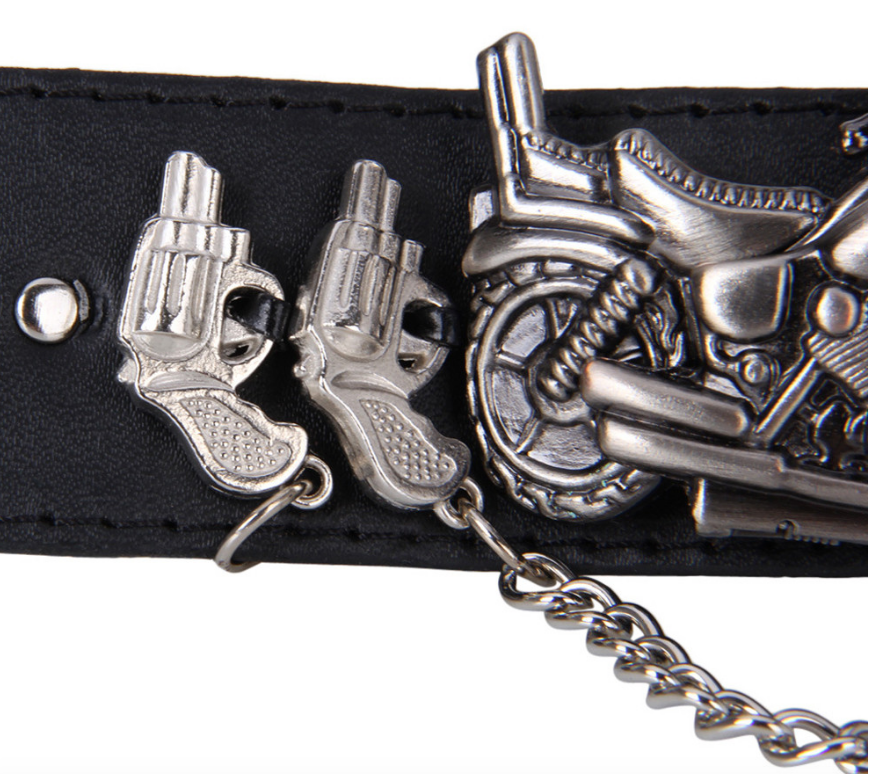 Guns & Motorcycle Design Wrist Watch