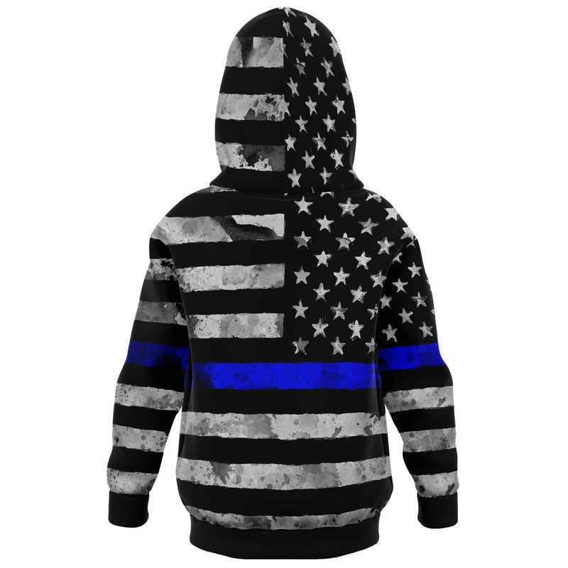 Blue Line - Athletic Kids Hoodie