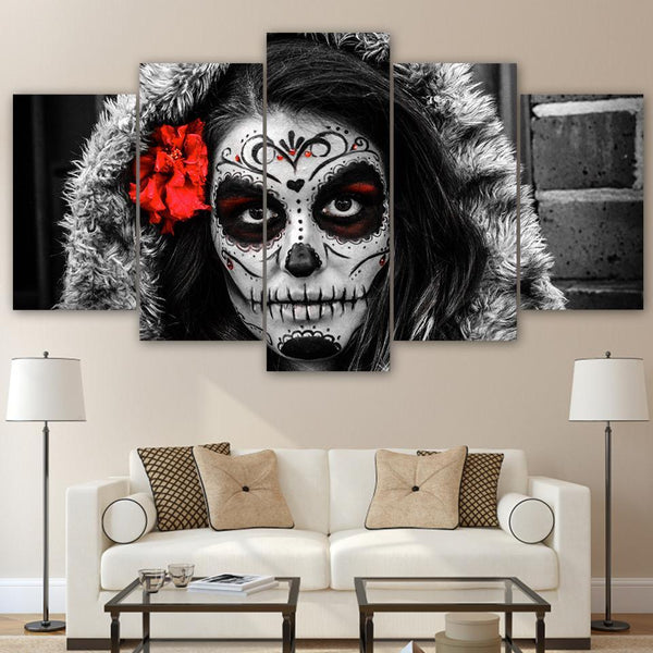 5 PIECE DAY OF THE DEAD CANVAS