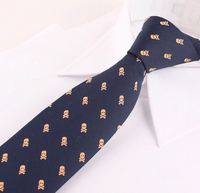 COTTON SKULL FASHION DESIGN NECKTIES WITH POCKET SQUARE