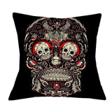 Funky Skull Throw Pillow Covers