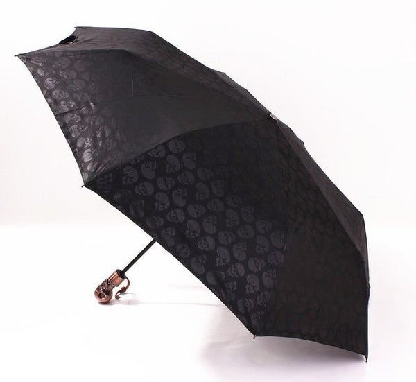 Umbrella with Brass Skull Head