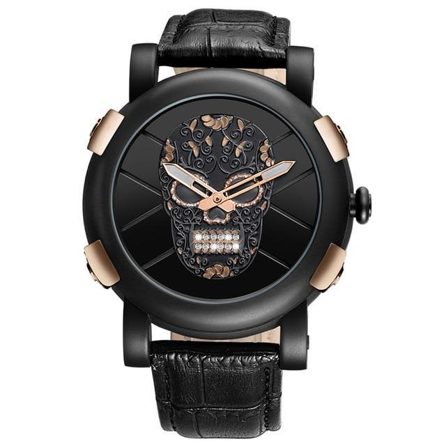 Skull Diamond Genuine Leather Watch