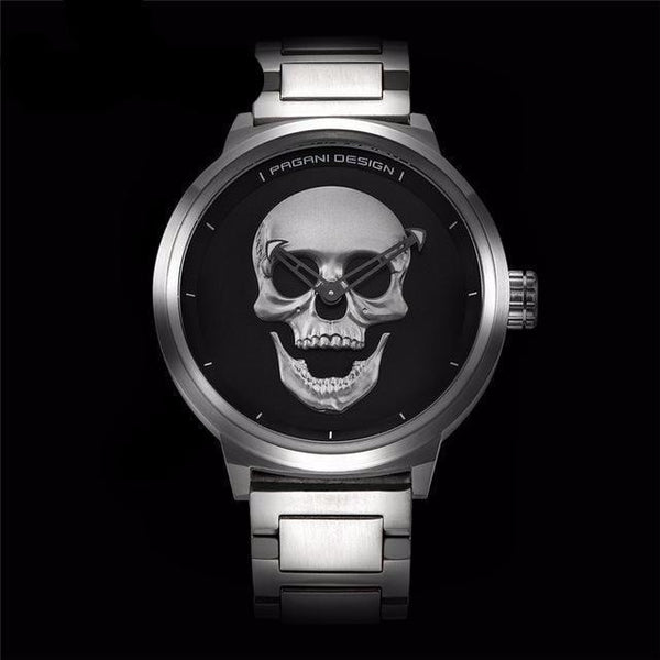 3D Skull Men's Watch