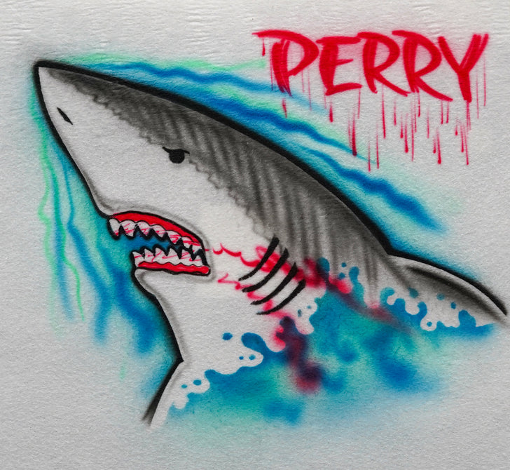 Angry Shark with Teeth Profile
