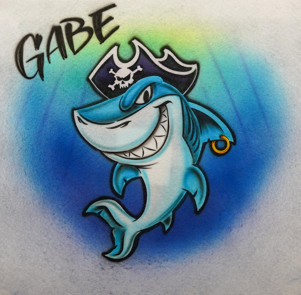 Shark with Pirate Hat