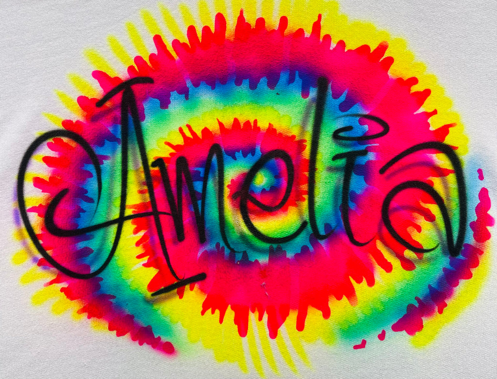 Tye Dye Swirl Name Design