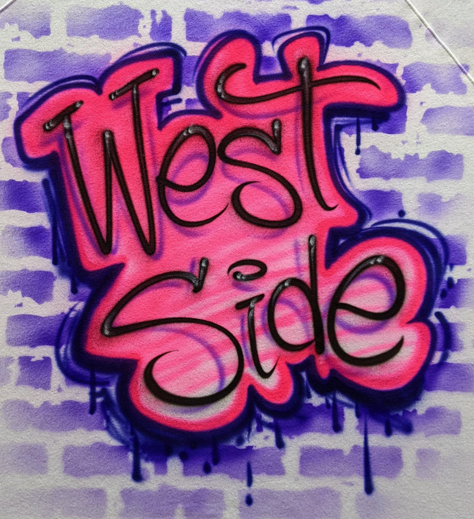 Pink Graffiti Old School Name Design