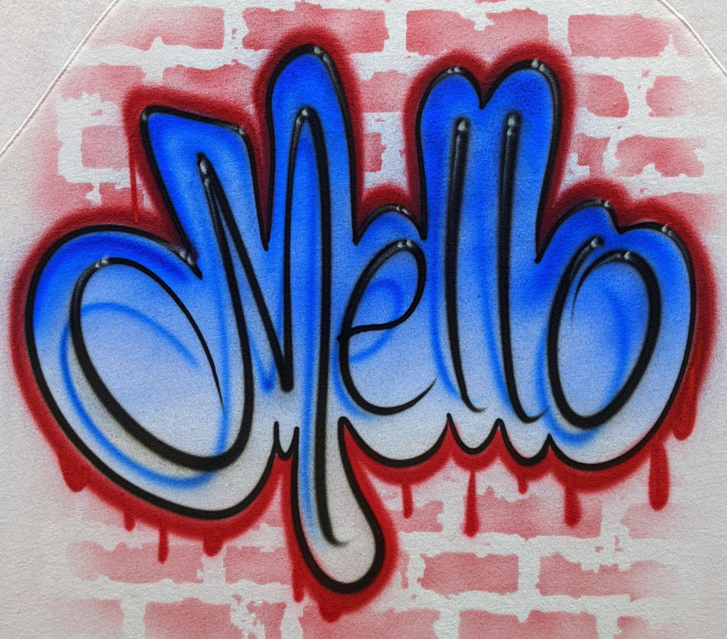 Blue & Red Graffiti Old School Name Design