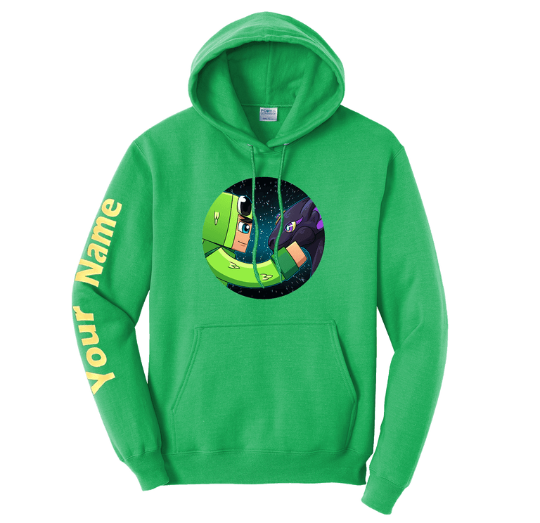 Little Lizard & Dragon Custom Sleeve Hoodie