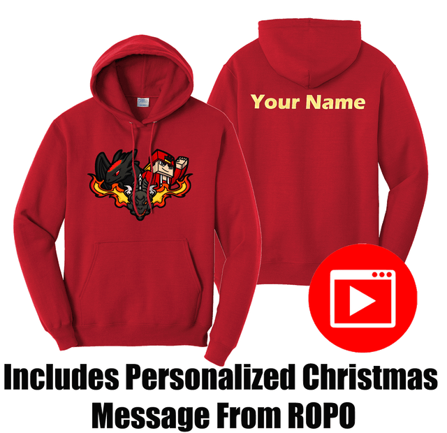 PERSONALIZED VIDEO EDITION, ROPO DRAGONS CUSTOM NAME HOODIE