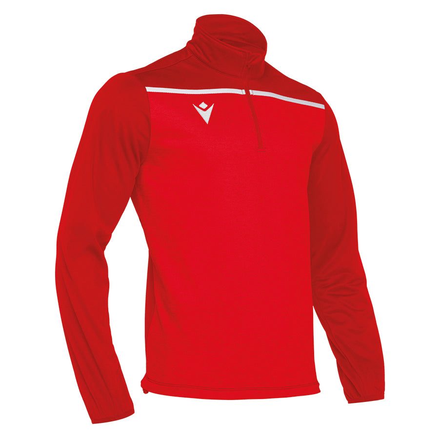 Rhine 1/4 Zip Top Red/White