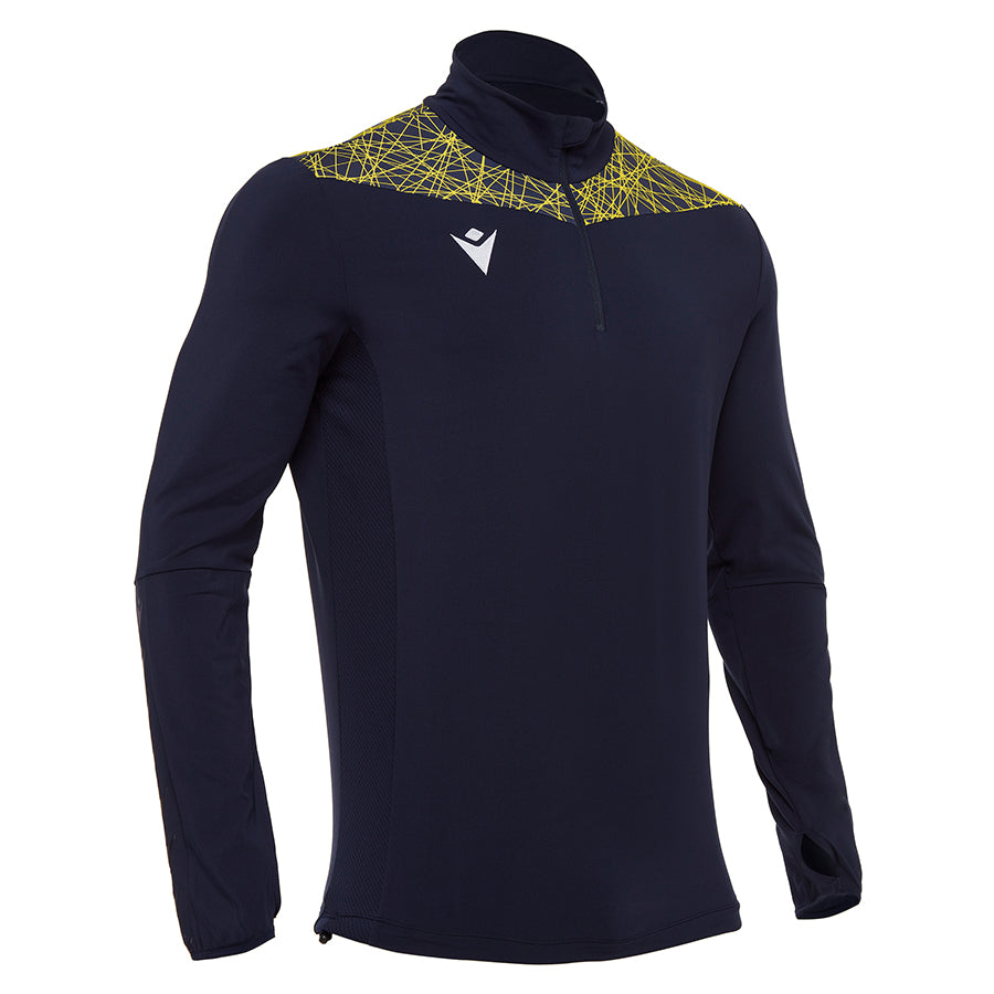 Tiber 1/4 Zip Top Navy/Yellow