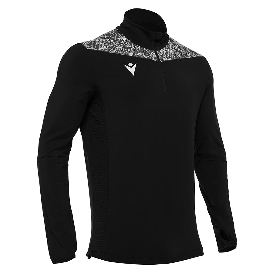 Tiber 1/4 Zip Top Black/White