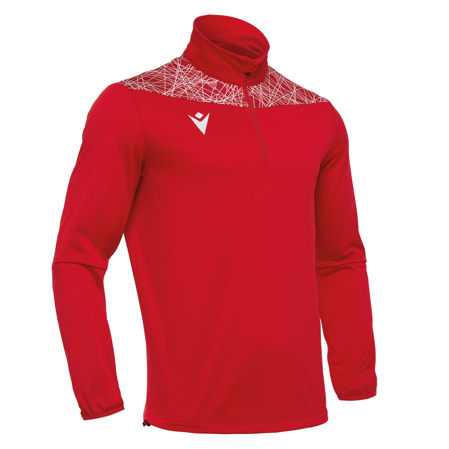 Tagus 1/4 Zip Top Red/White