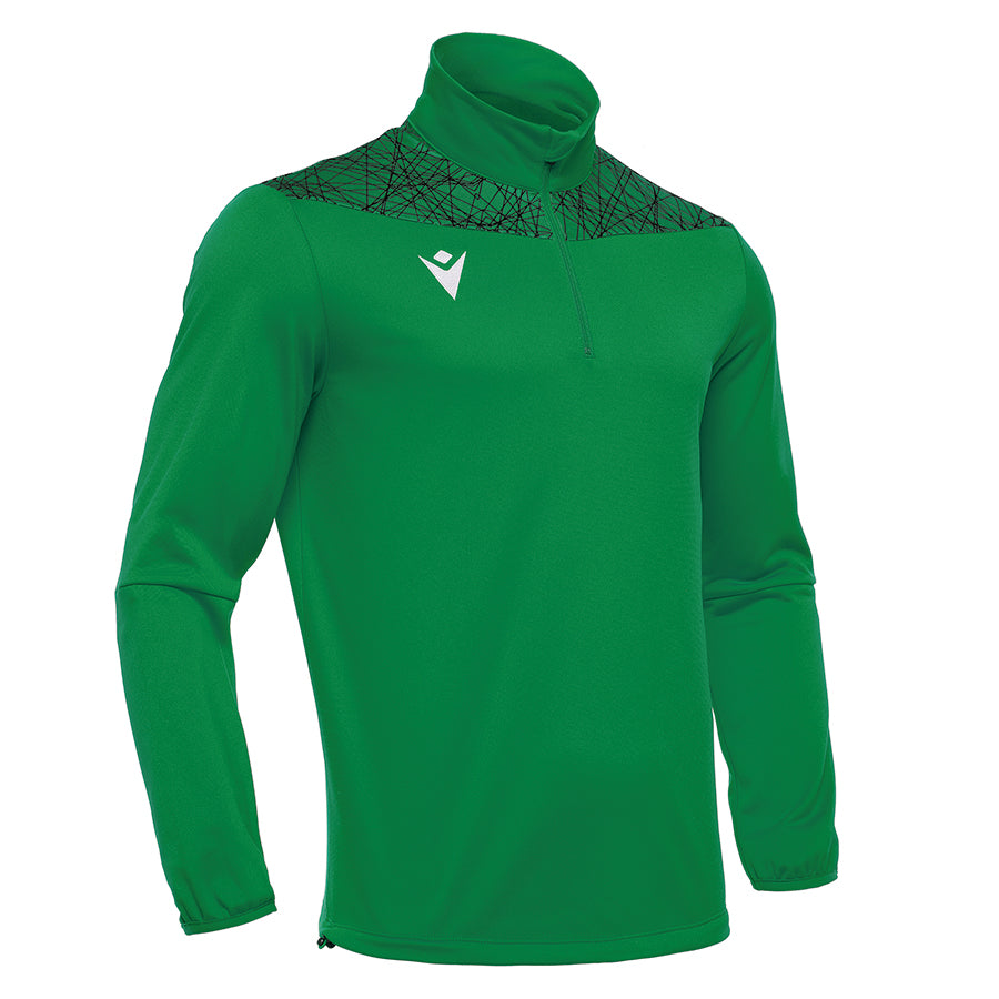 Tagus 1/4 Zip Top Green/Black