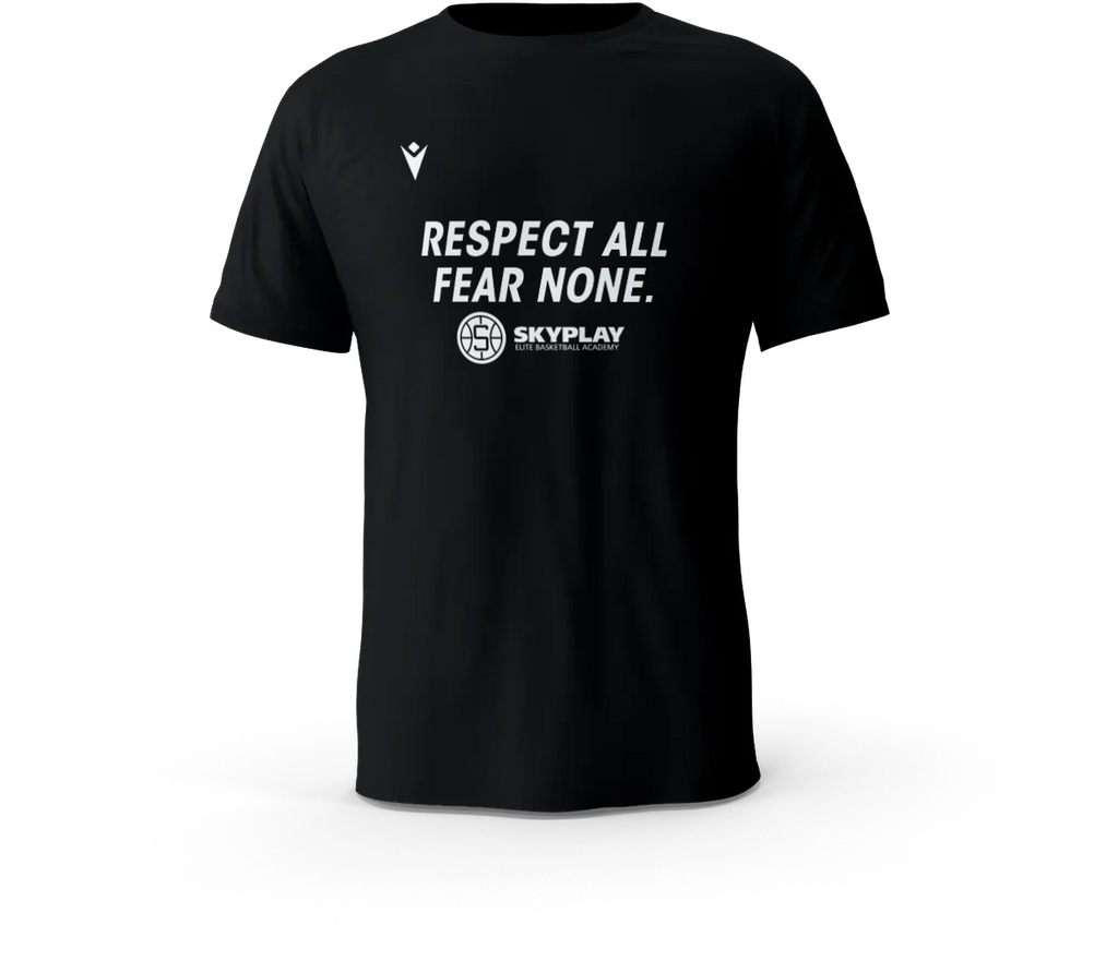 "Skyplay Basketball T-Shirt ""Respect all, fear none"""