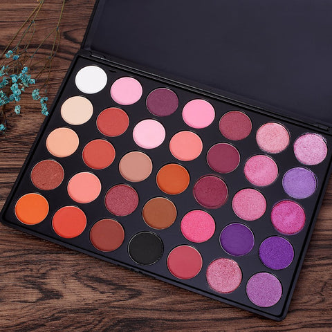 DE'LANCI 35 Bright Colors Matte Shimmer Eyeshadow Makeup Pallete