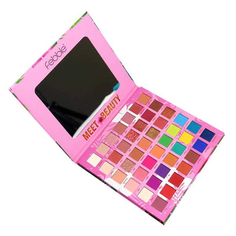 Febble Meet Beauty 42 Color Nude Pigmented Eyeshadow Palette