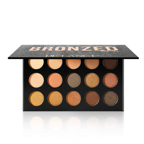 DE'LANCI Bronzed 15  Naked Colors Eyeshadow  Palette