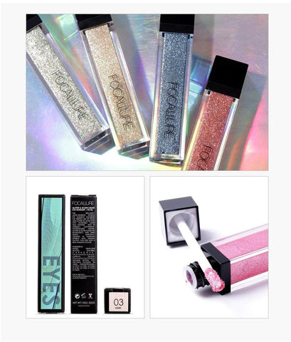FOCALLURE Eyes FOCALLURE Metallic Glitter & Glow Liquid Eyeshadow