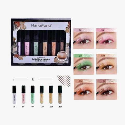 Heng Fang Eyes HENG FANG Glitter Eye Shadow Set of 6-Shade B