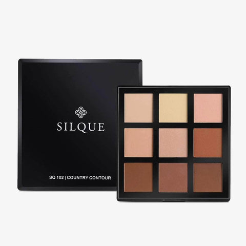 Silquebeauty Eyes SILQUE Country Contour Eye Shadow Pallet - 9 Colors