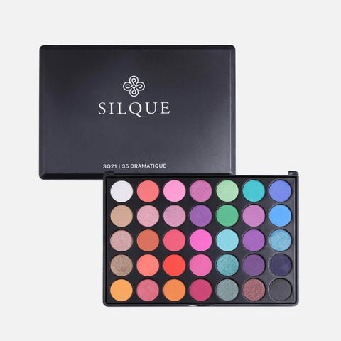 Silquebeauty Eyes Silque Dramatique Matte and Shimmer Eye shadow -35 Palette