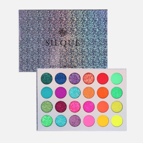 Silquebeauty Eyes Silque Lumineon Matte And Shimmer Eye Shadow- 24 Palette