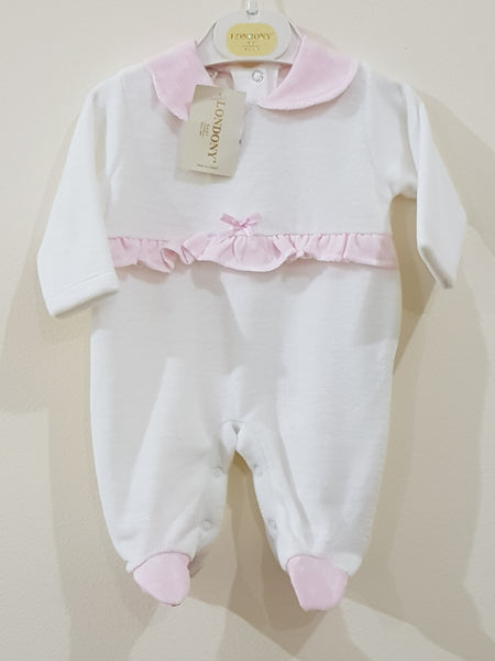Elegant VELOUR Pink Romper - Little World