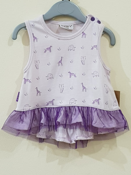 Fancy Frock / Top -  2 Pcs Set with Shorts - Little World