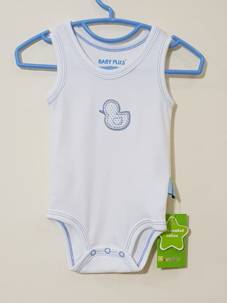 Sleeveless Baby Duck Romper  - Little World
