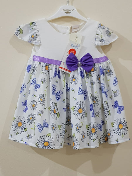 Elegant Floral Bow Tie Frock - Little World