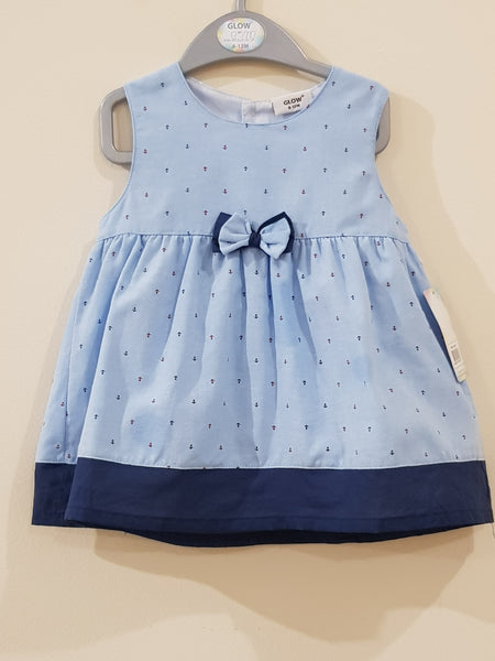 """Anchor""  - Elegant Bow Tie Frock - Little World"