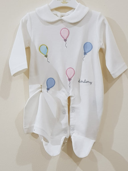 """Balloons"" - Romper with Cap"