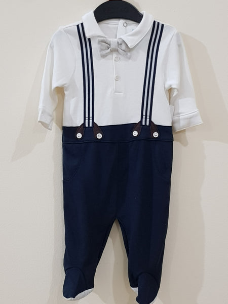Gentleman Romper with Elegant Bow Tie - Little World