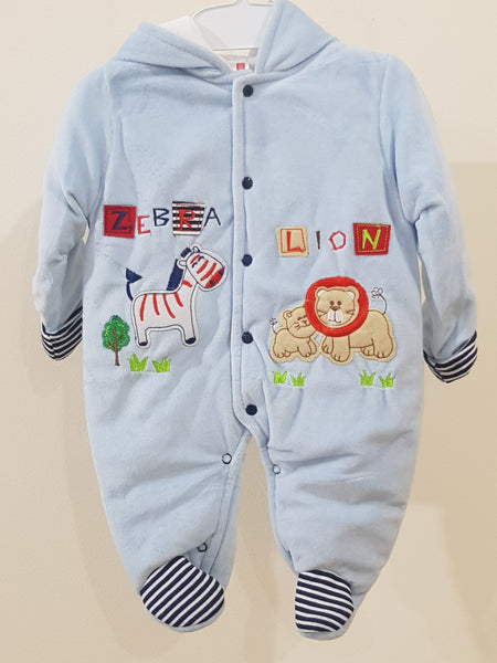 """Lion"" Hooded & Footed Winter Romper"