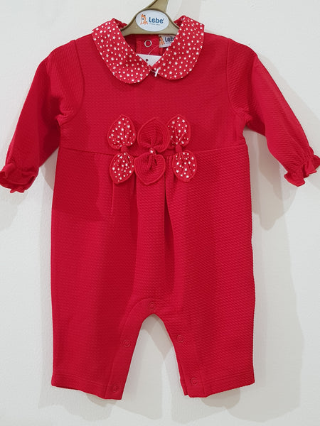 "Elegant ""Red Riding Hood"" Romper"