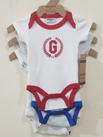 """Lets Play"" Set of 3 Rompers"