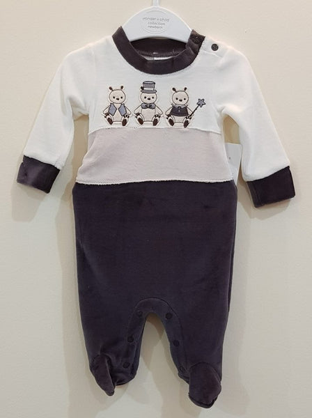 """3 Bears"" Fleece Romper - Little World"