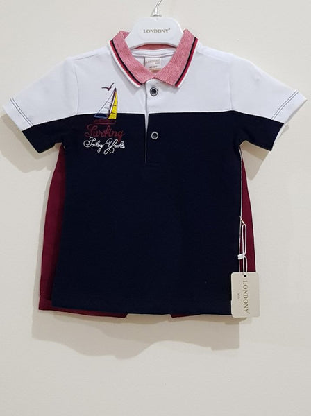 Formal Polo T - Shirt with Jeans Shorts - Little World
