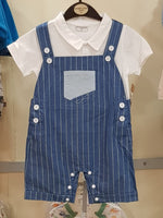 Stripped Dungaree 2 Pcs Set - Little World