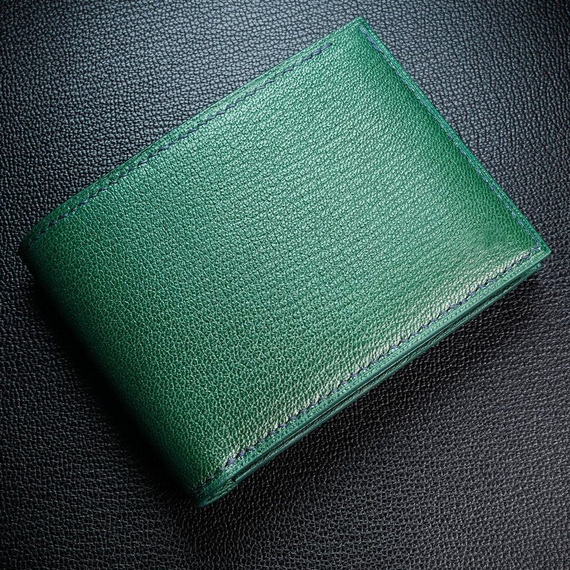 #194 Kelly Green French Chévre Small Bifold