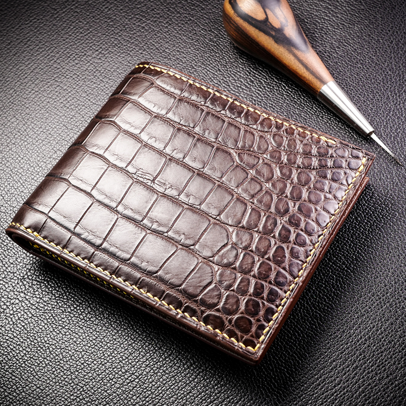 #90 American Alligator Bifold Wallet